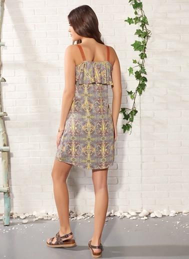 Gizzey Kadın Elbise Renkli
